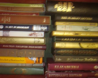 Set of 23 Miscellaneos Folio Society Books. 19 with slipcases