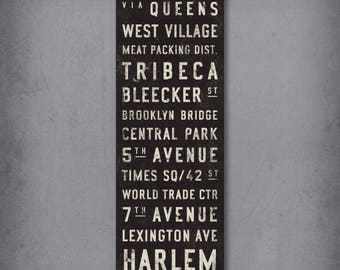 Custom bus scroll - subway sign - vintage tram roll - canvas - digital download