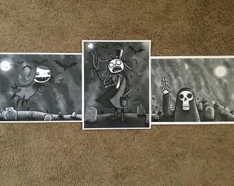 Tombstone Trio - set of 3 prints