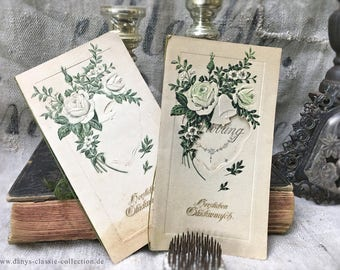 Magical vintage engagement congratulation cards from 1921 Brocante decoration