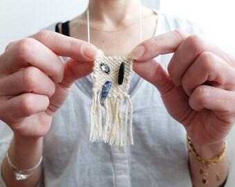 Necklace woven Denim 2