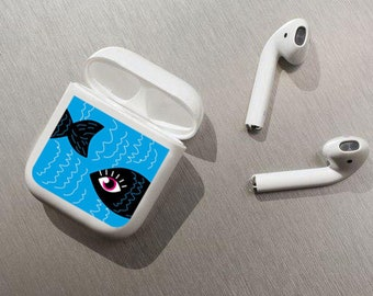 airpod sticker,fish decal for airpods,fish airpods case,airpod sticker ipod classic wheel,airpods cover,vinyl skin decal for apple airpods