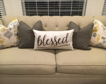 Blessed - Fall pillow cover