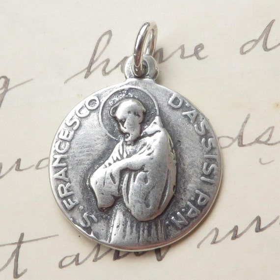 St francis of assisi st clare medal necklace patron of the aloadofball Choice Image