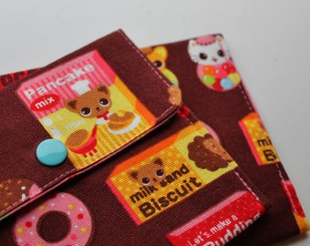 Snappy Card Holder - Candy Kitten and Chihuahua - Brown - New Fabric