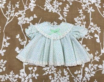 0-3m Vintage Floral Baby Girls' Dress 3m 6m VTG