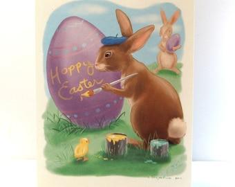 Easter Bunny Original Illustration Easter Card