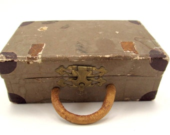 Vintage Cardboard Suitcase Candy Container Christmas Ornament Paper Candy Container Christmas Decorations