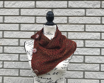 Scarf & Cowl Accessory | Snood | Merino Wool| Handmade Cowl | Christmas Present | Gift for her | Button Cowl | Neck warmer