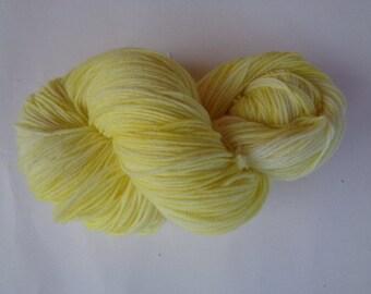 Hand Dyed Yarn, Buttercup - SW Merino/Nylon Fingering Wt.