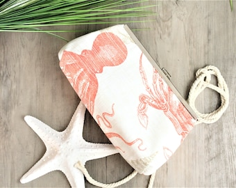 Beach Clutch, Beach Wedding, Crab Clutch, Beach Handbag