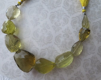 Lemon Quartz Pendant Bead, Focal Bead, LUXE Free Form Designer Quartz, Nugget Beads, Per Bead OR Rest of the Strand Pricing Available