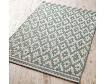 Lovely county rug hard wearing flat weave - 2 colours 150cmx80cm