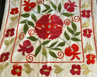 Hand Embroidered Pillow Case.