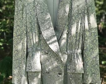 handmade double breasted silver blazer/jacket