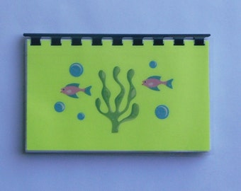 SALE ITEM priced as marked Handmade Yellow 'Seafood' Blank Recipe book for Your Personal Recipes