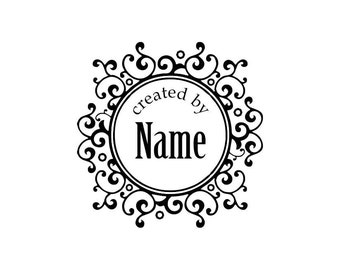 Handle Mounted Personalized custom made rubber stamps C14