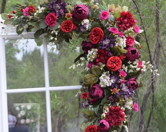 Window arch, doorway arch, silk arch, floral arch, Entrance Door Decor, Flower Arch, Silk arch