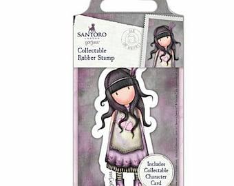 Santoro Rubber Stamp No. 50 ~Jar of Hearts~ w/Collectors Card