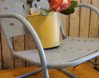 1940s Metal Motel Chair Repurposed into a Fountain