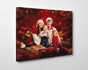 Christmas canvas print gift, Christmas Canvas art, Christmas Art print, Photo to canvas, Christmas cotton canvas, personal photo print