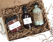 Organic Bath Time Trio  // Gift Set // Spa  // All Natural //  // Vegan // For Her // For Mom