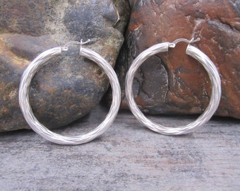 Large hoops in 925 silver