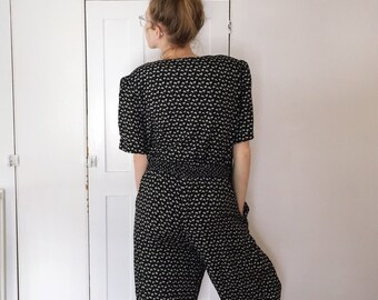 Black and White 90's Jumpsuit