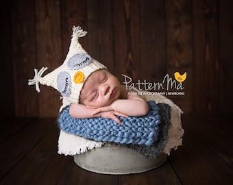 Crochet Baby Hat Pattern Sleepy Owl #4