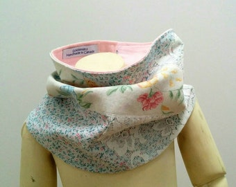 Sweet Flowers and Lace Upcycled Kids Cowl