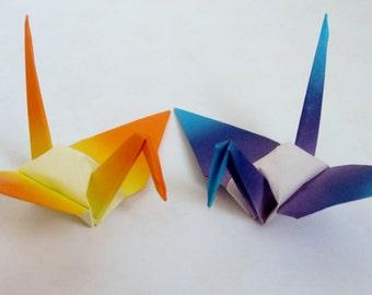 100 Shaded Small Japanese Origami Crane Paper Crane Origami Paper Cranes