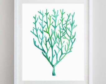 Coral Watercolor Art Print