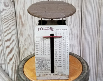 1960 Mite Postal Scale ~ Industrial Office ~ Postage Scale ~ Milwaukee WI