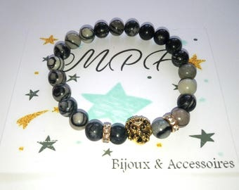 Lion head Glass Bead Bracelet