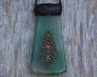 Soldered Green Pendant
