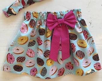 Donut skirt, infant, toddler, girl, headband