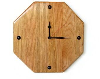 Wall Clock,  Oak Wood Home Decor,  Home and Living, Decor & Housewares
