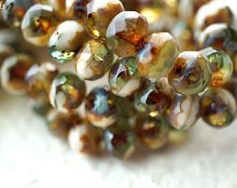 SeaBreeze, Rondelle Beads, Czech Beads, Beads, N2009