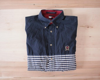 Tommy Hilfiger stripes men's dress shirt