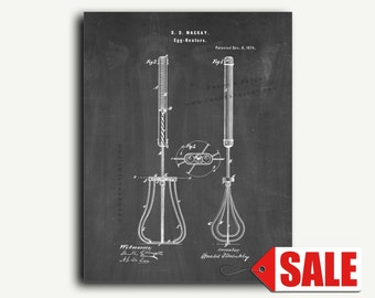 Patent Print - Egg Beater Patent Wall Art Poster