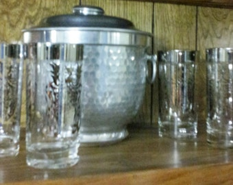 Bundles ~~~~ High Ball Glasses with Ice Bucket
