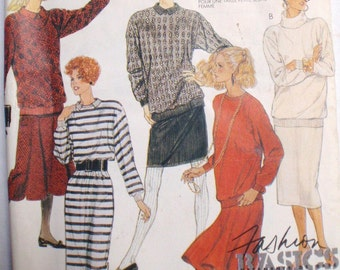 Women's Sewing Pattern - Misses/Misses Petite Dress, Top and Skirt - McCall's 3253 - Size XS, Bust 30 1/2 - 31 1/2, Uncut