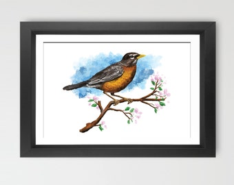 Bird Painting Print Wall Art