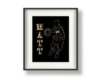 Boys Basketball Gifts - Personalized Basketball Gifts - Basketball Gift Ideas - Gifts for Basketball Players - Basketball Senior Night
