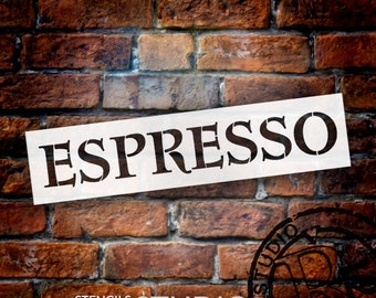 Espresso Antique Tuscan Word Stencil - Select Size - STCL1439 - by StudioR12