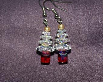 Genuine Swarovski Crystal Christmas Earrings