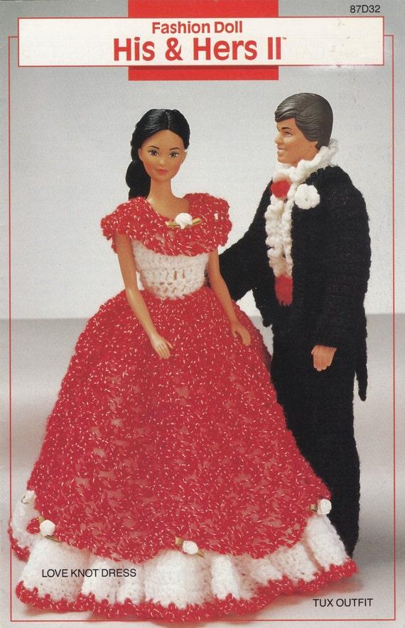 Seine & ihn II Annie Attic häkeln Mode Puppe Kleidung Muster