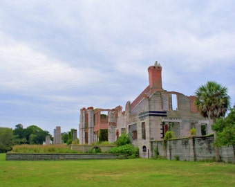 Ruins of Dungeness, the Carnegie Mansion on Cumberland Island, GA--8 x 10 fine art photo, signed