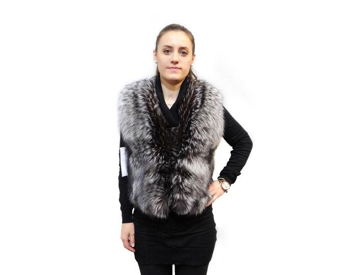 Fashion silver fox vest F417