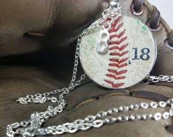 Baseball Jewelry, Baseball Necklace, Baseball Team Gifts, Personalized Baseball Jewelry, Personalized Baseball Necklace, Artisan Neckla